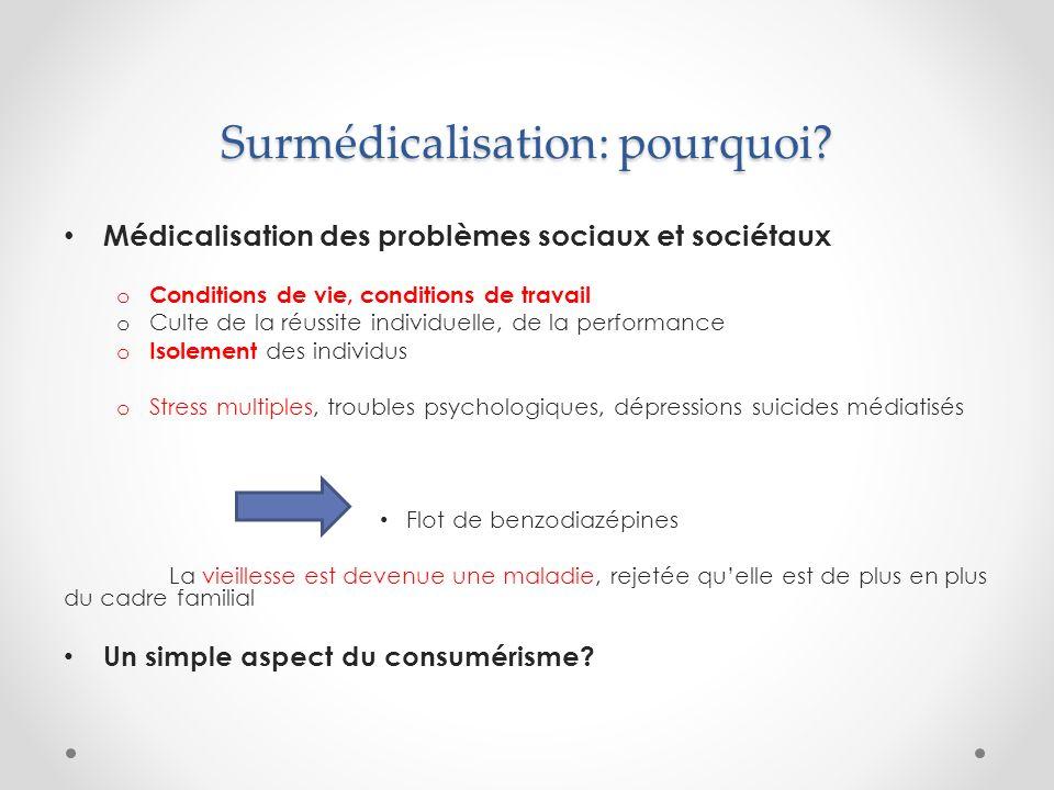 Surmédicalisation: pourquoi.Le poids des acteurs économiques o Big pharma….