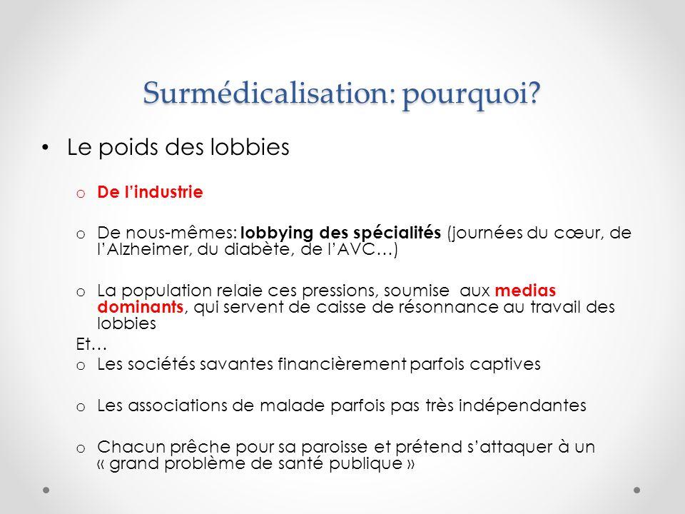 Surmédicalisation engendre surdiagnostics Des dépistages exagérés, et parfois imprévus o Les nouvelles technologies dimagerie ont multiplié les diagnostic dembolie pulmonaire.