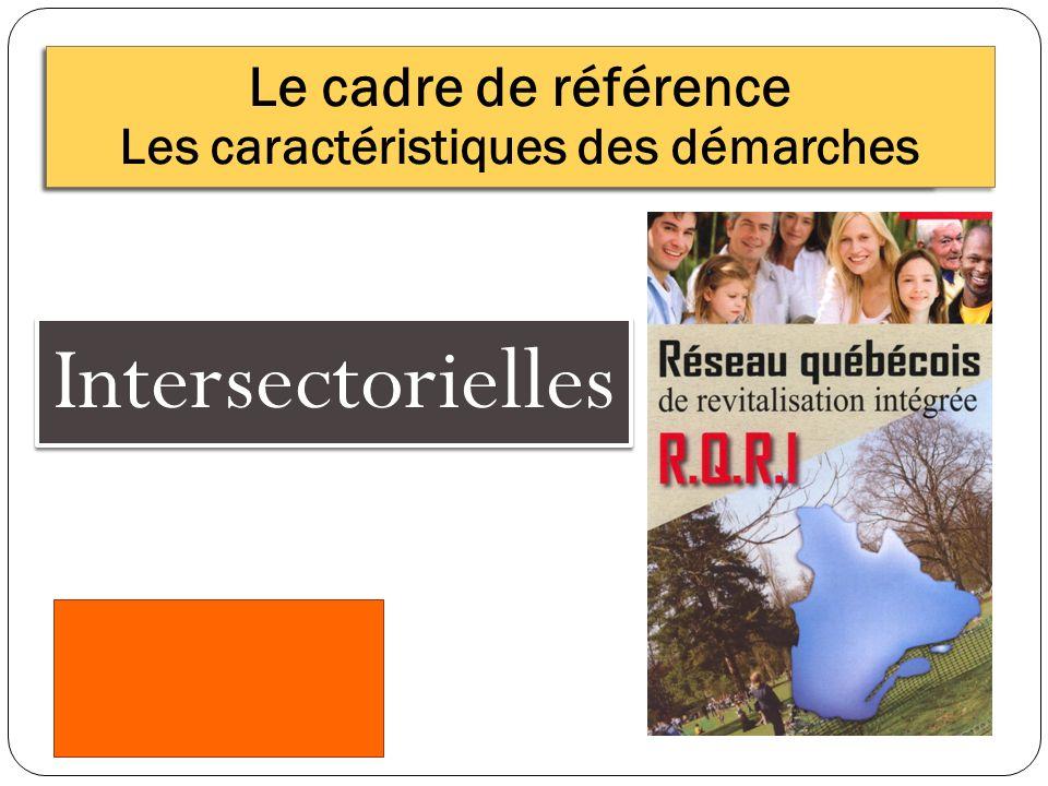 Intersectorielles Le cadre de référence Les caractéristiques des démarches