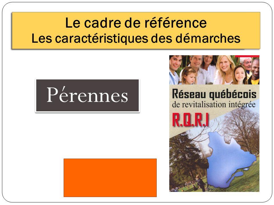 Pérennes Le cadre de référence Les caractéristiques des démarches