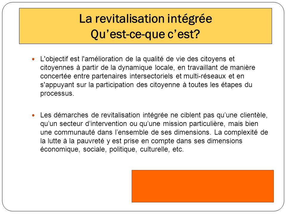 La revitalisation intégrée Quest-ce-que cest.
