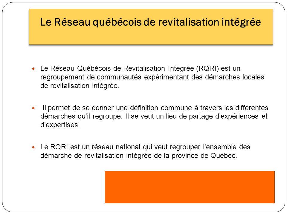 Le Réseau Québécois de Revitalisation Intégrée (RQRI) est un regroupement de communautés expérimentant des démarches locales de revitalisation intégrée.