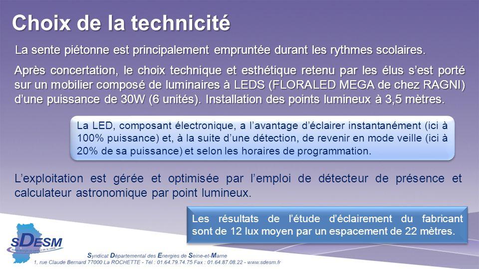 La LED, composant électronique, a lavantage déclairer instantanément (ici à 100% puissance) et, à la suite dune détection, de revenir en mode veille (