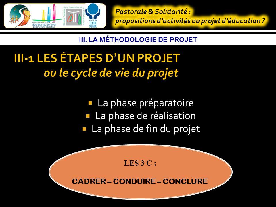 III. LA MÉTHODOLOGIE DE PROJET III- INTRODUCTION Pourquoi appliquer la méthodologie de projet .