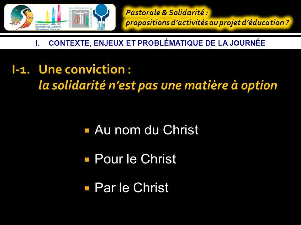 I.CONTEXTE, ENJEUX ET PROBLÉMATIQUE DE LA JOURNÉE I-1.