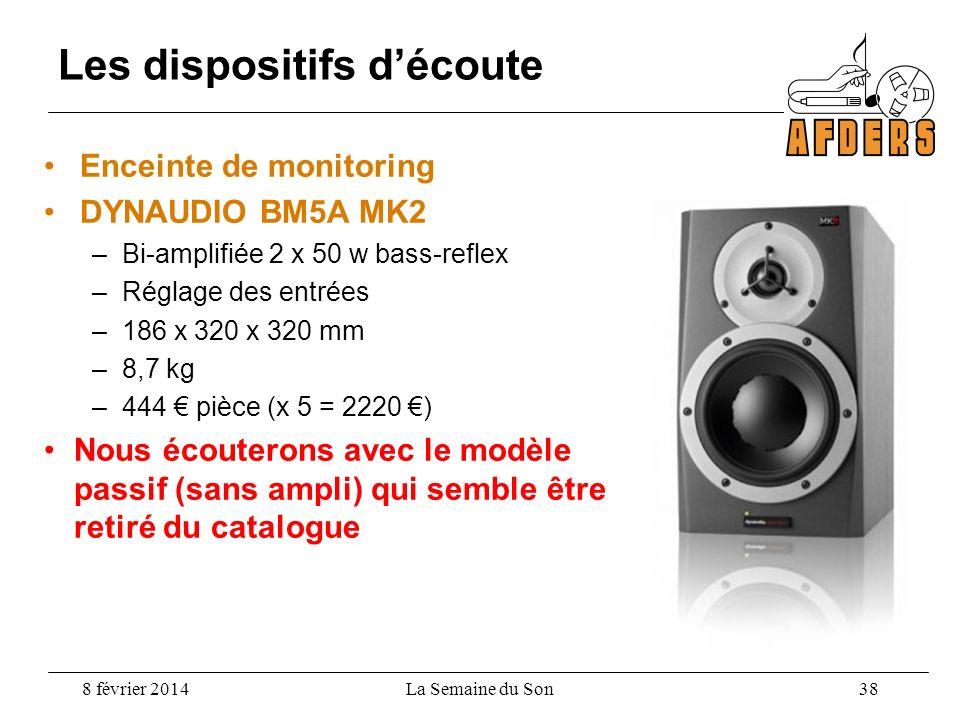 Enceinte de monitoring DYNAUDIO BM5A MK2 –Bi-amplifiée 2 x 50 w bass-reflex –Réglage des entrées –186 x 320 x 320 mm –8,7 kg –444 pièce (x 5 = 2220 )