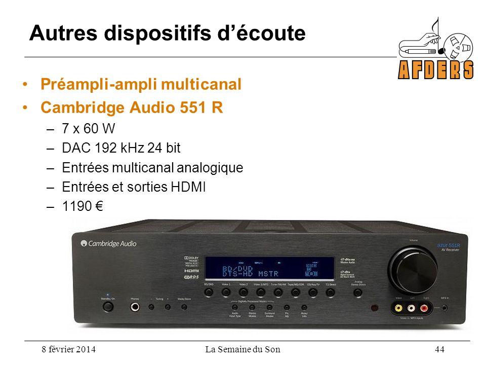Préampli-ampli multicanal Cambridge Audio 551 R –7 x 60 W –DAC 192 kHz 24 bit –Entrées multicanal analogique –Entrées et sorties HDMI –1190 Autres dis