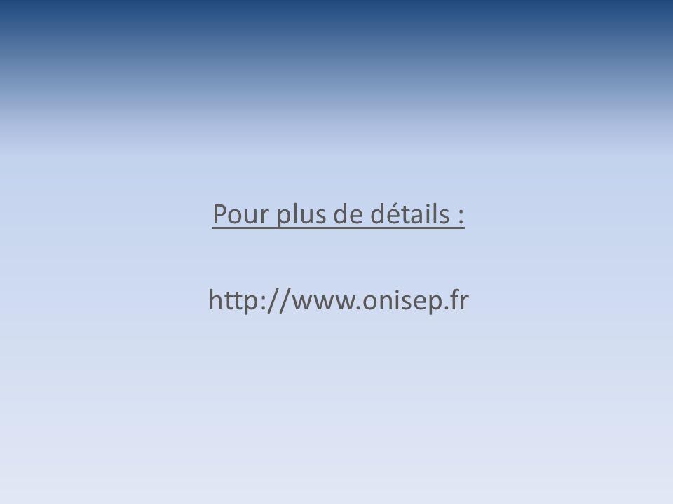 Pour plus de détails : http://www.onisep.fr