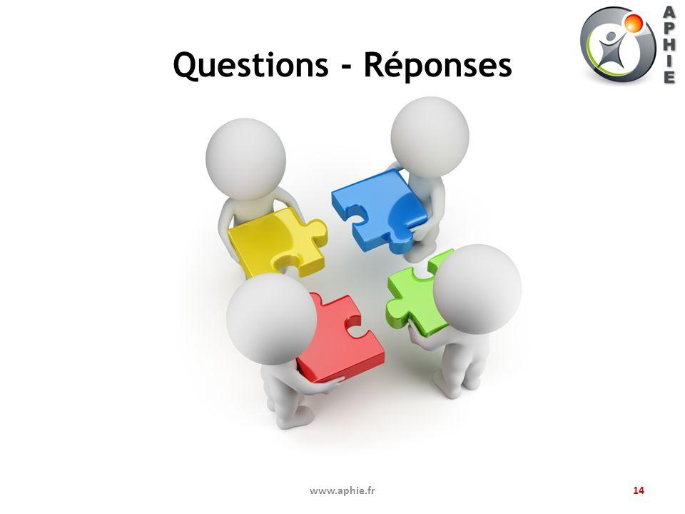 Questions - Réponses www.aphie.fr14