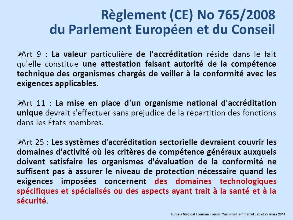 La Tunisie sest engagée Création de lInstance Nationale de lAccréditation en Santé ( INASanté ) Tunisia Medical Tourism Forum, Yasmine Hammamet : 28 et 29 mars 2014