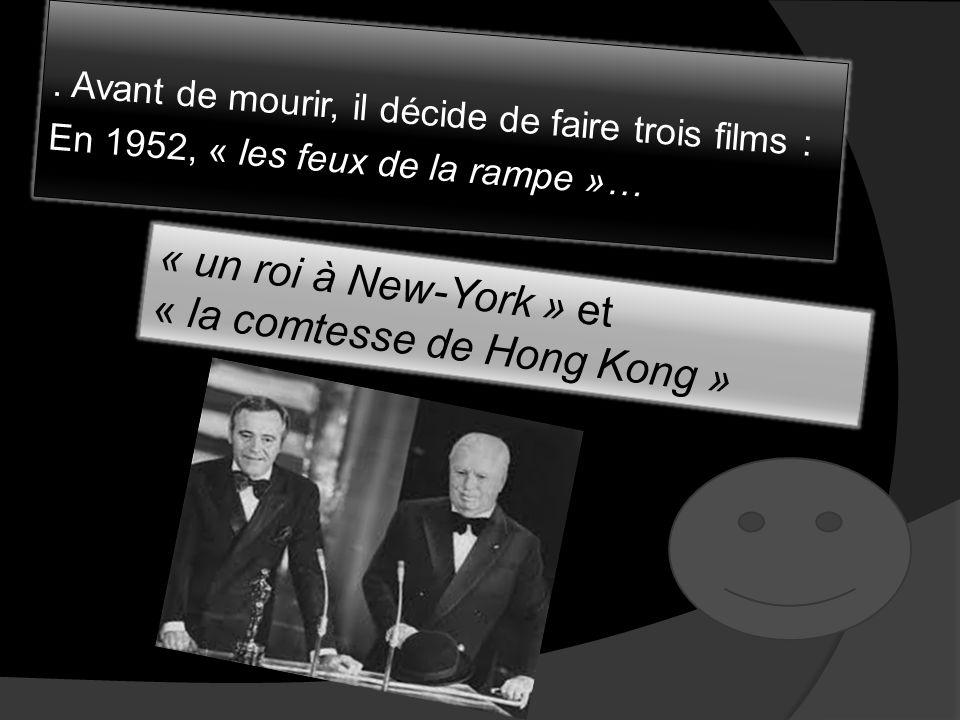 En 1952, alors que Chaplin embarque pour Londres afin de présenter son film : Les feux de la rampe, les autorités américaines en profitent pour annule