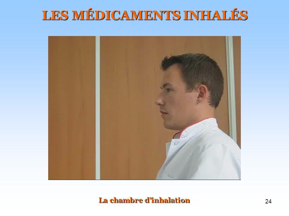 24 LES MÉDICAMENTS INHALÉS La chambre dinhalation