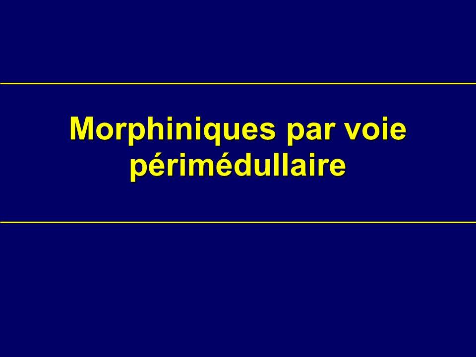 Morphiniques par voie périmédullaire