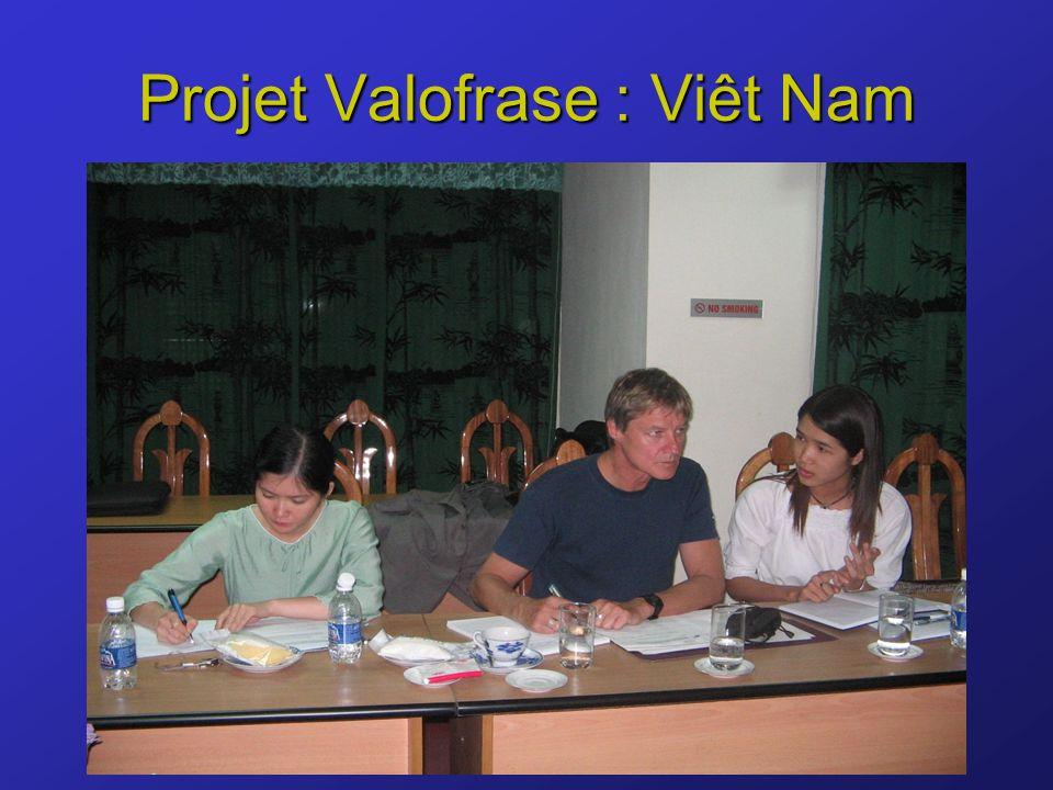 Projet Valofrase : Viêt Nam