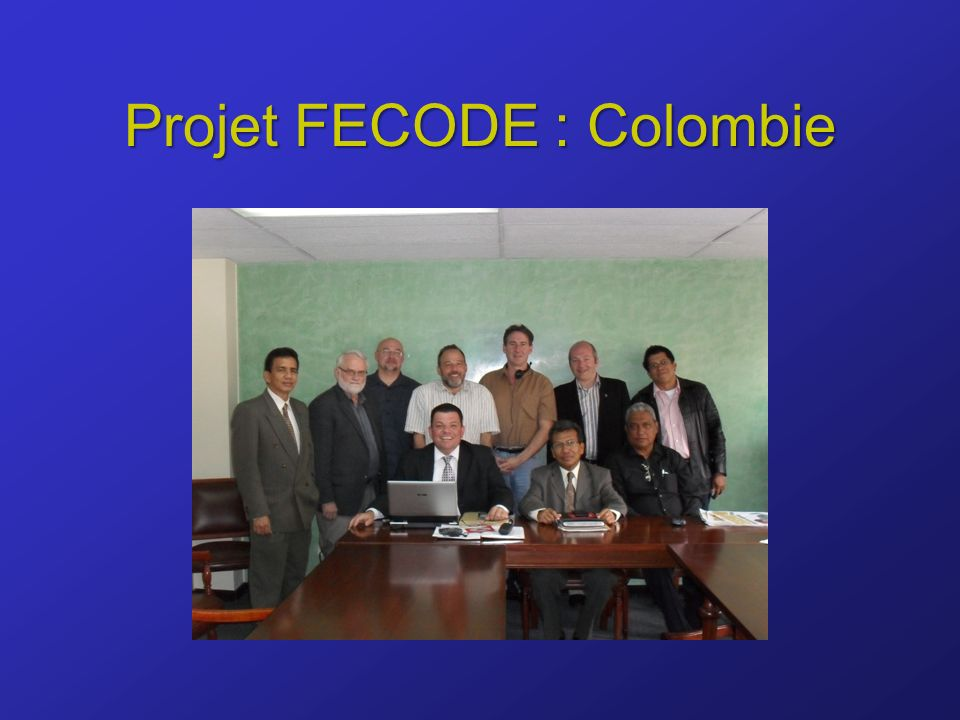 Projet FECODE : Colombie
