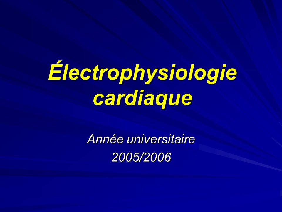 Électrophysiologie cardiaque Année universitaire 2005/2006