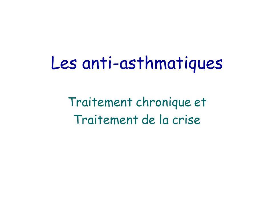 Les anti-asthmatiques Traitement chronique et Traitement de la crise