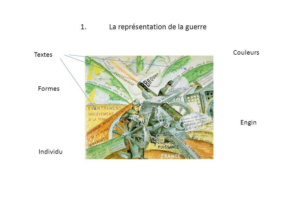 1.La représentation de la guerre Individu Engin Textes Formes Couleurs