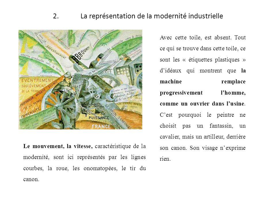 2.La représentation de la modernité industrielle Avec cette toile, est absent. Tout ce qui se trouve dans cette toile, ce sont les « étiquettes plasti