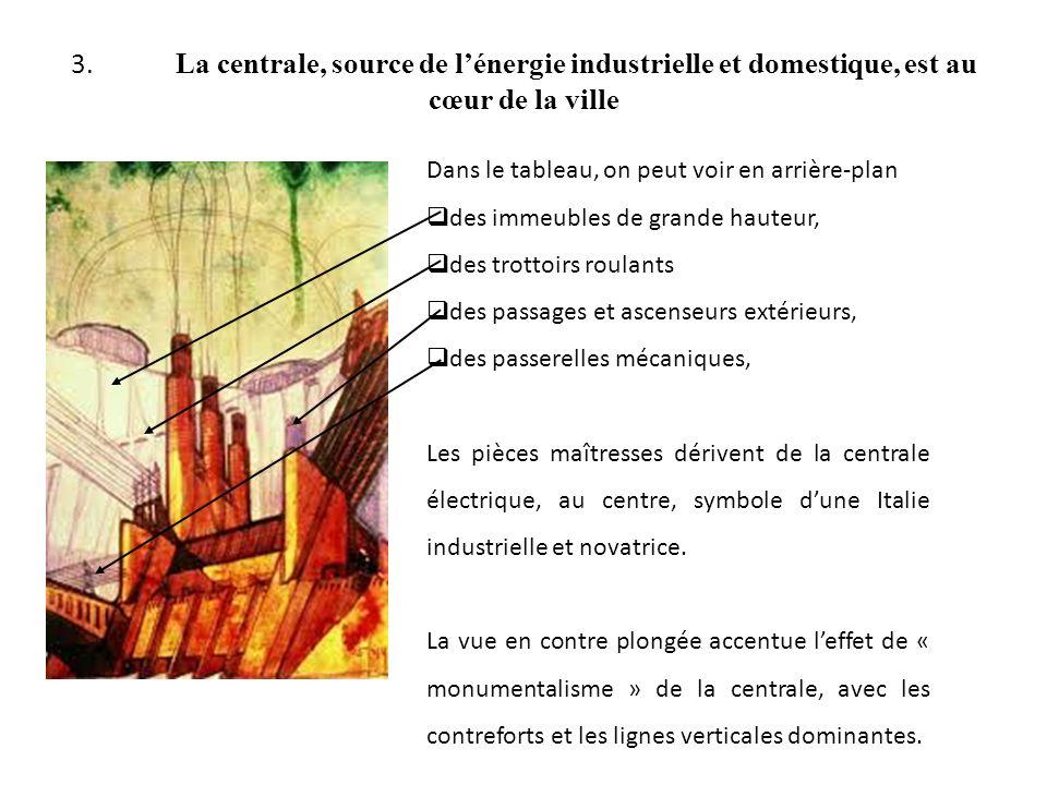 3. La centrale, source de lénergie industrielle et domestique, est au cœur de la ville Dans le tableau, on peut voir en arrière-plan des immeubles de