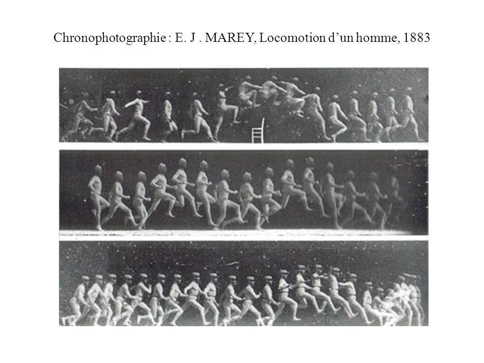 Chronophotographie : E. J. MAREY, Locomotion dun homme, 1883