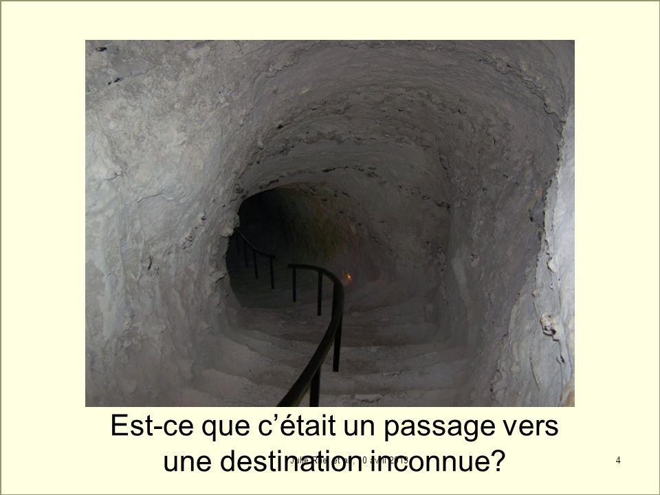 4 Est-ce que cétait un passage vers une destination inconnue? Julie Ruel et al., 10 avril 2013