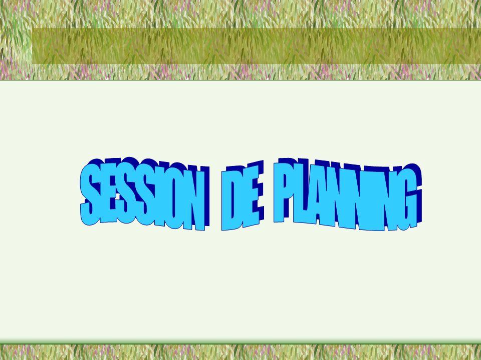uElaborer un programme provisoire SESSION DE PLANNING SESSION DE PLANNING Préparation du Coordinateur des soutiens Préparation du Coordinateur des sou