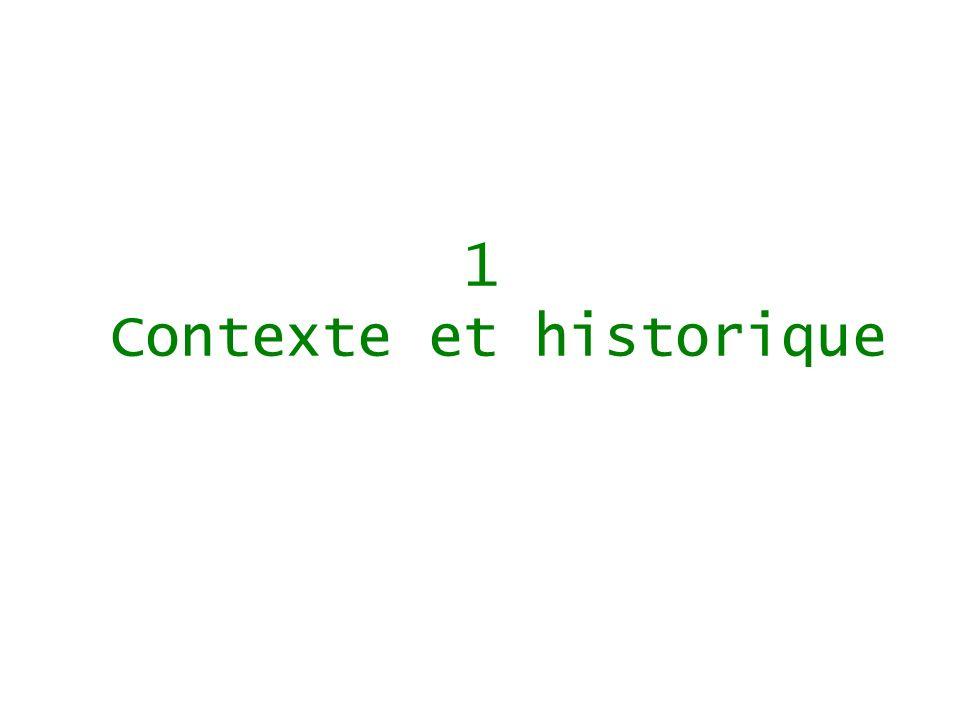 1 Contexte et historique