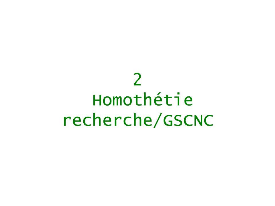 2 Homothétie recherche/GSCNC
