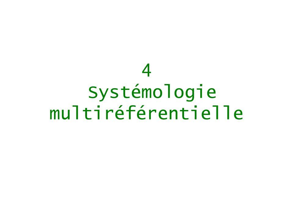 4 Systémologie multiréférentielle