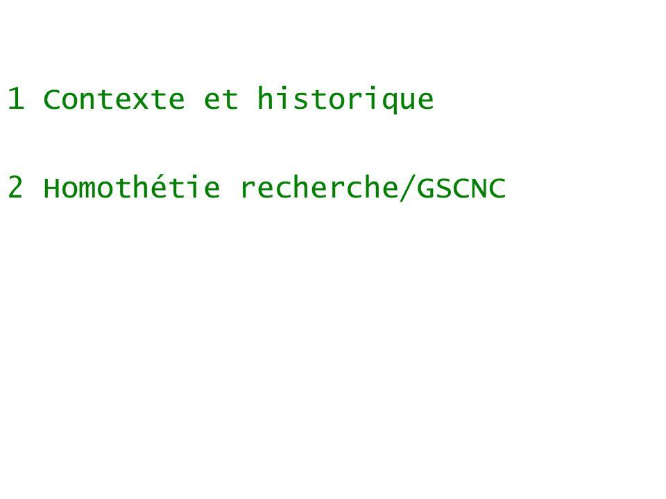Sommaire 1 Contexte et historique 2 Homothétie recherche/GSCNC 3 Métaphore GSCNC = soif/eau/sources