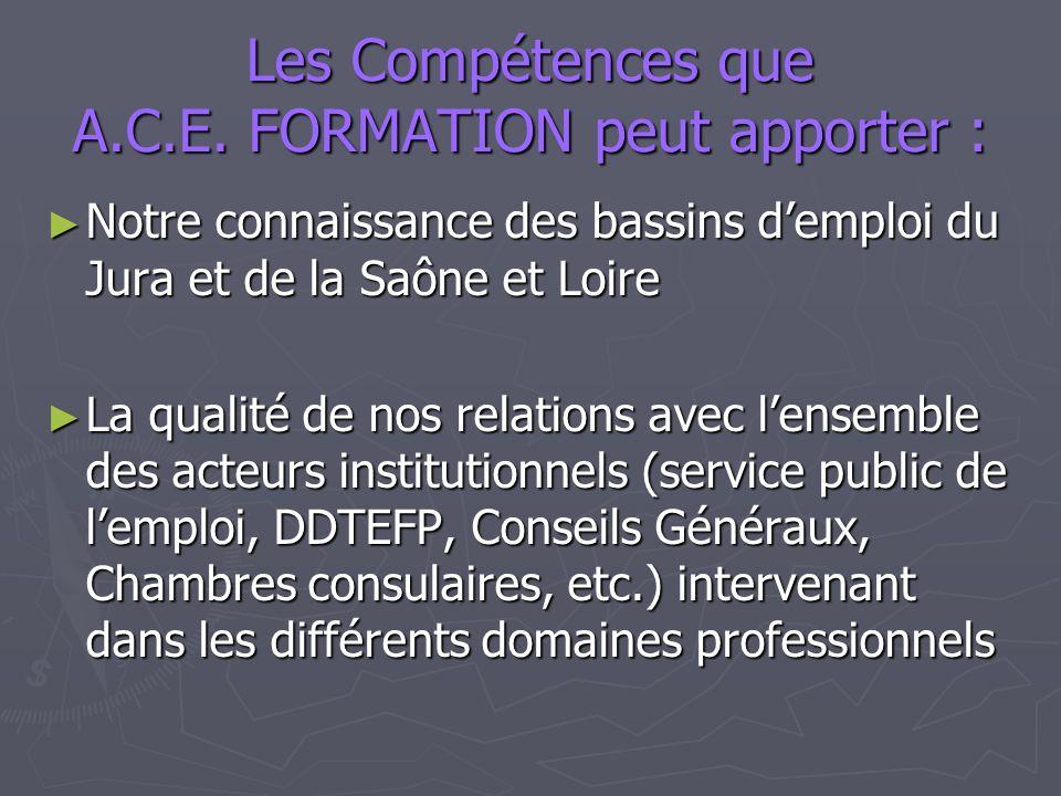 Les Compétences que A.C.E.