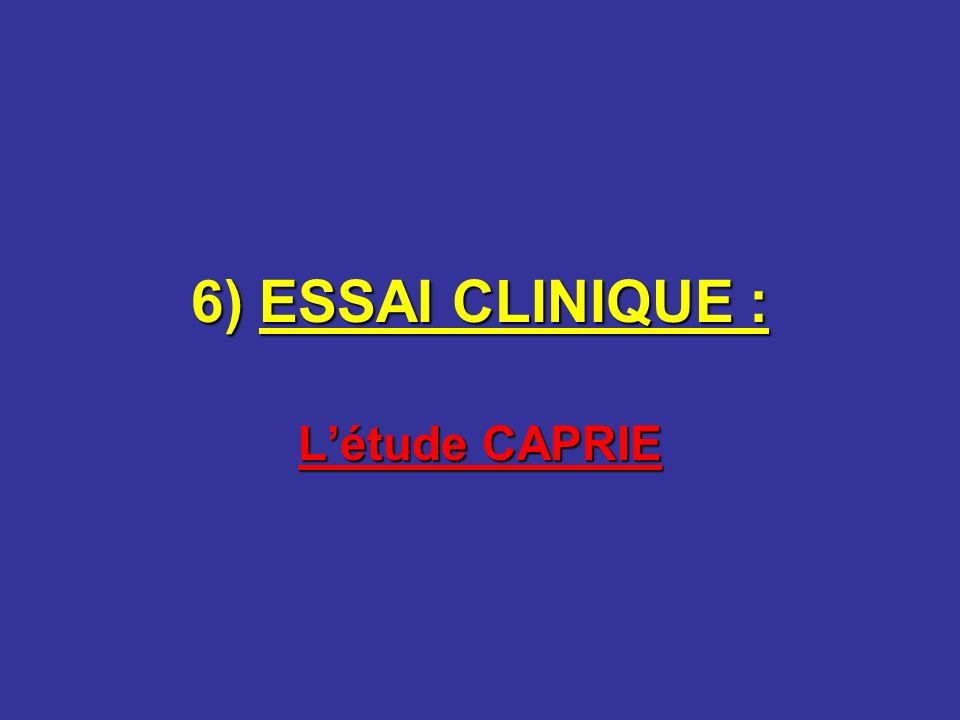 6) ESSAI CLINIQUE : Létude CAPRIE