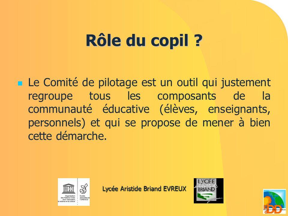 Perspectives 2009/2010 Reconduction de notre Comité de Pilotage EDD Chacun peut contribuer à sa réussite, soit en intégrant le Comité, soit en apportant des suggestions, des propositions dactions, mais aussi et surtout à participer à cet élan collectif.
