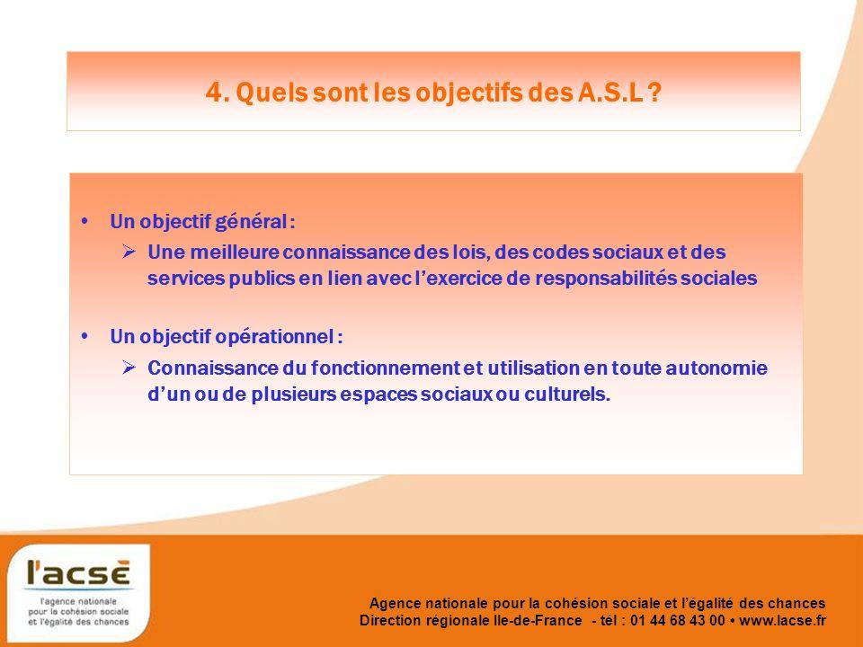Agence nationale pour la cohésion sociale et légalité des chances 4.