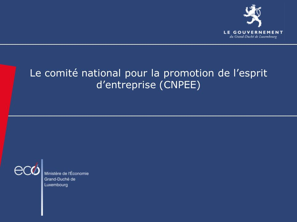 Le comité national pour la promotion de lesprit dentreprise (CNPEE)