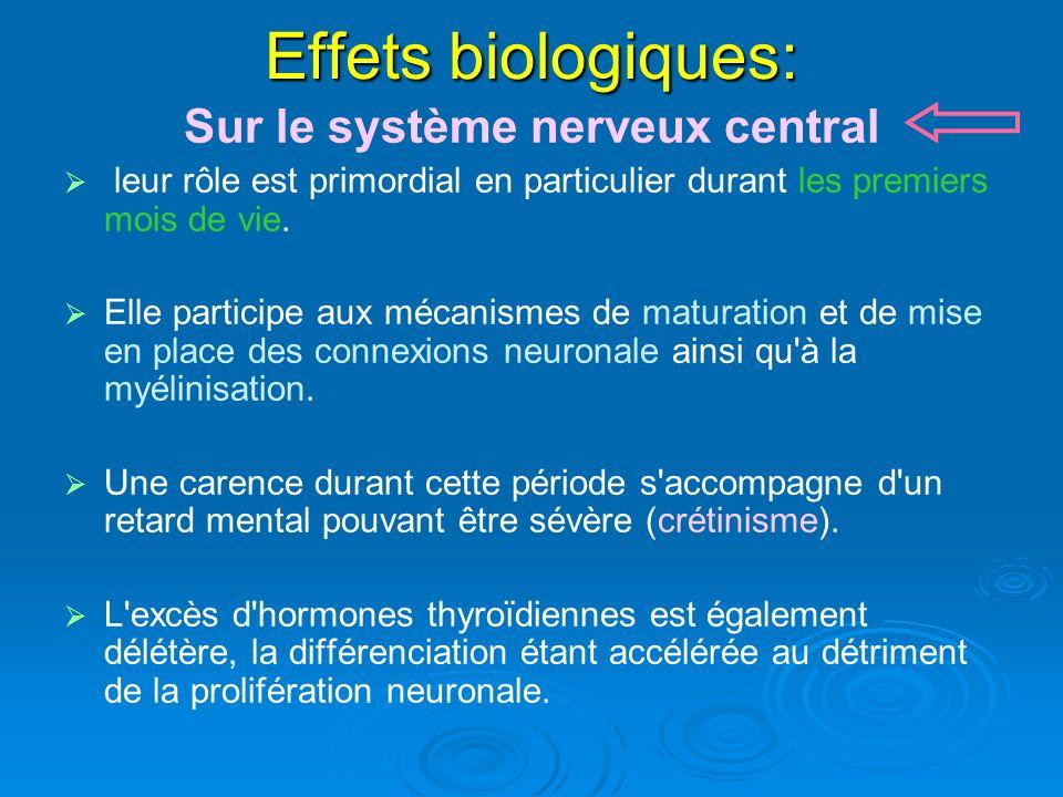 Effets biologiques: Sur le système nerveux central leur rôle est primordial en particulier durant les premiers mois de vie. Elle participe aux mécanis