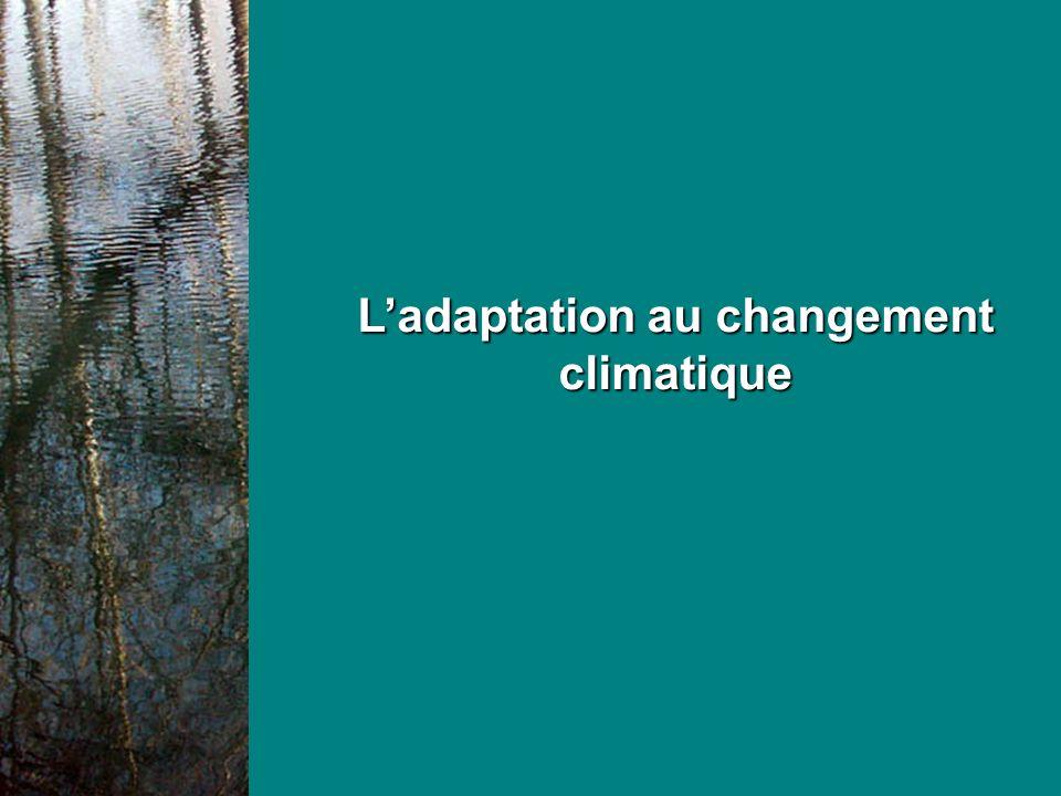 Les impacts du changement climatique Des impacts déjà sensibles ou calculés Sur les événements extrêmes en été : de plus en plus fréquents
