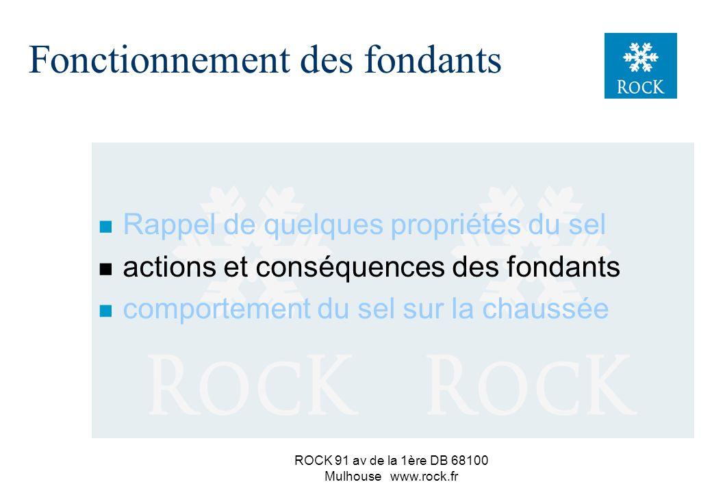 ROCK 91 av de la 1ère DB 68100 Mulhouse www.rock.fr n À propos de solubilité dans l eau : attention de quoi l on parle ! NaCl en % du poids de solutio