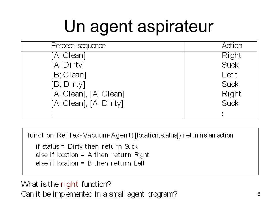 Un agent aspirateur 6
