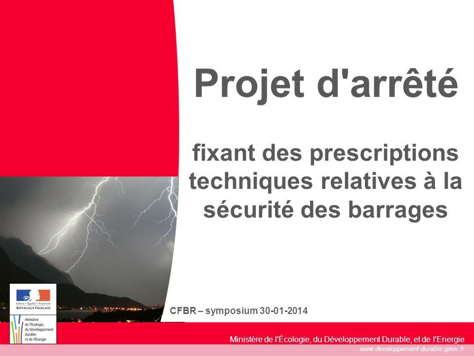 1 17/05/2014 Ministère de l'Écologie, du Développement Durable, et de l'Energie www.developpement-durable.gouv.fr CFBR – symposium 30-01-2014 Projet d