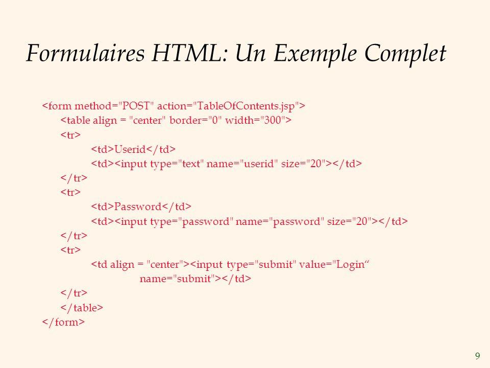 10 JavaScript But: Ajouter de la fonctionnalité au niveau de présentation.