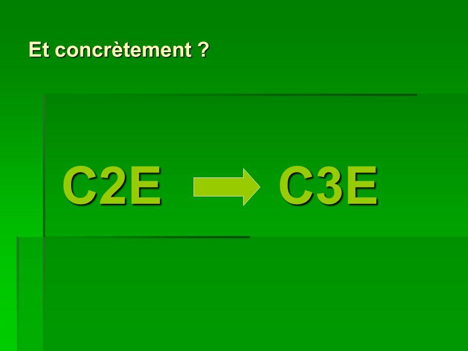 Et concrètement C2E C3E