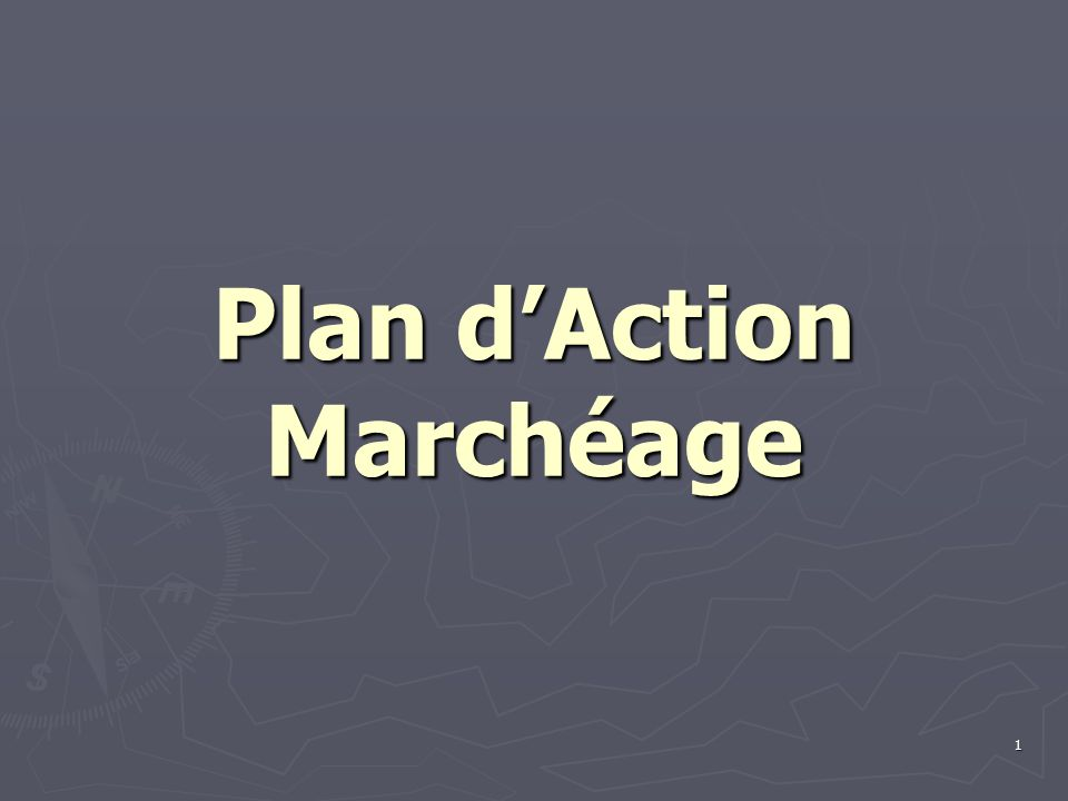 1 Plan dAction Marchéage