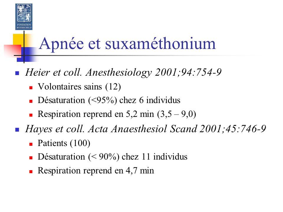 Apnée et suxaméthonium Heier et coll.