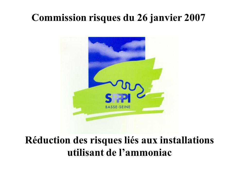 Réduction des risques liés aux installations utilisant de lammoniac Commission risques du 26 janvier 2007