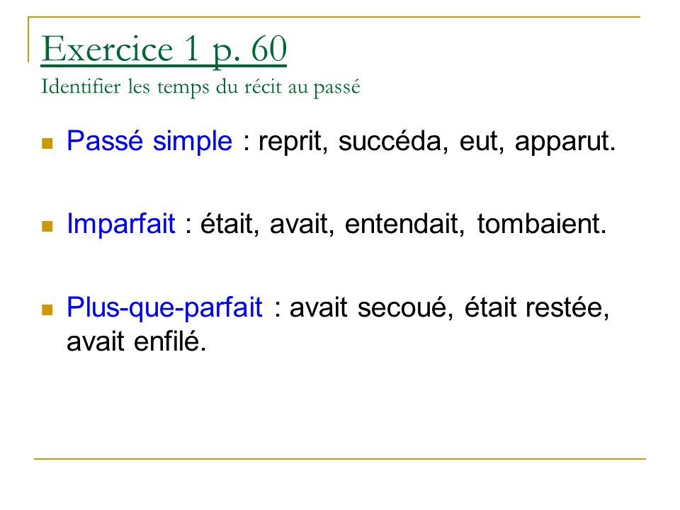Exercice 1 p.