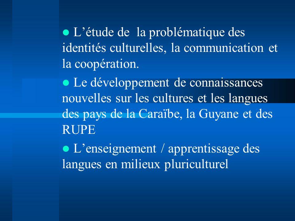 État actuel de la recherche 1997 Cultures créoles et enseignement de langues dans la Caraïbe.