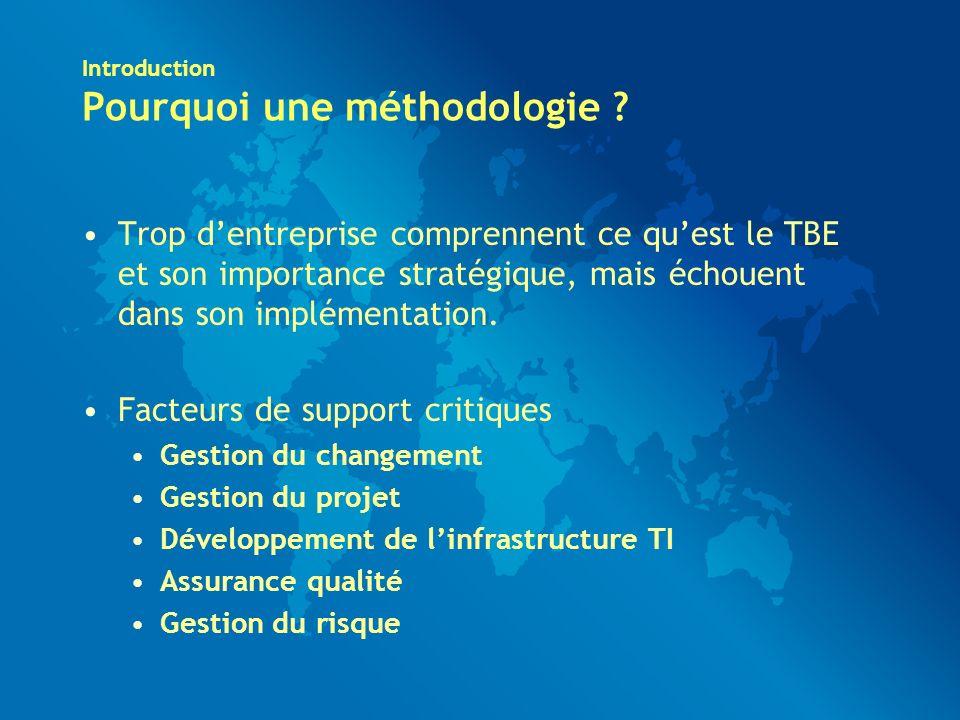 Introduction Pourquoi une méthodologie .