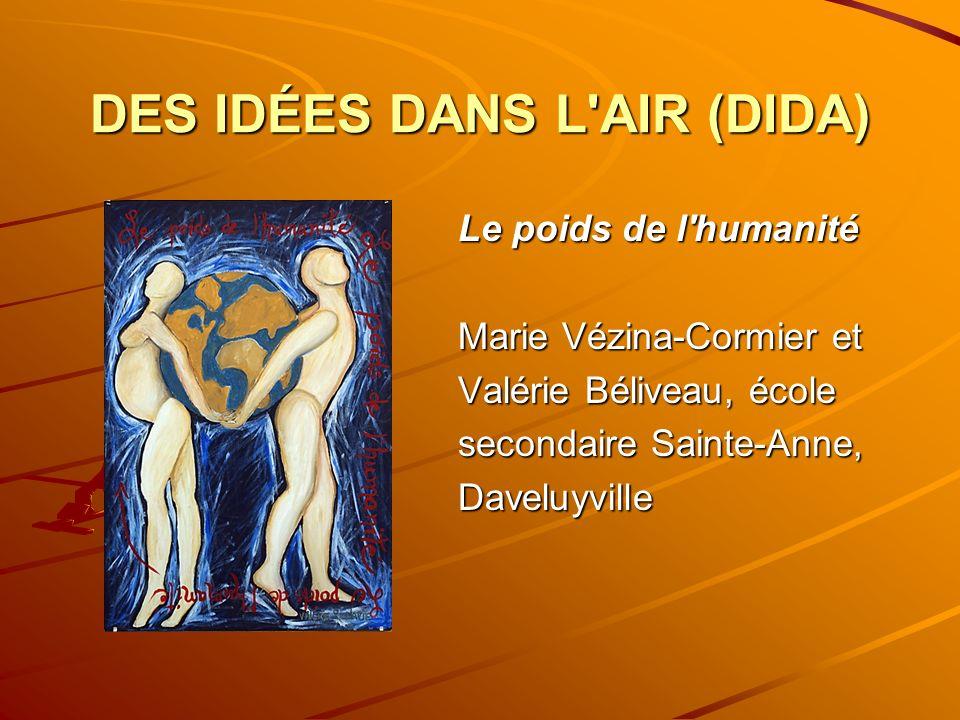 DES IDÉES DANS L AIR (DIDA) Le poids de l humanité Marie Vézina-Cormier et Valérie Béliveau, école secondaire Sainte-Anne, Daveluyville